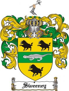 Sweeney Coat of Arms Sweeney Family Crest Instant Download - for sale, $7.99 at Scubbly