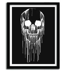 DRIPPING SKULL B by CARBINE - artandtoys.com