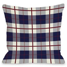 One Bella Casa American Plaid Throw Pillow & Reviews | Wayfair