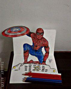 #10 Hey everyone!!~#spiderman  #3d ART using Colorpencils. #spidermanart #civilwar #marvelfan #cosplay #captainamerica #comics  #art_4_shoutout #young_artist_help #artsgallery#art_spotlight #illustratenow #dailyartistiq #youngartist#art_4share#johnnys_artbook