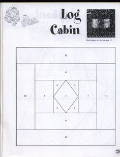 This is a great Log Cabin block pattern for me.
