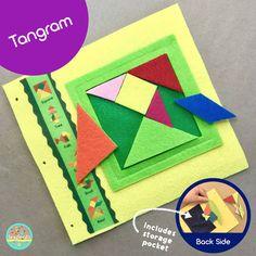 Tangram Quiet Book Page