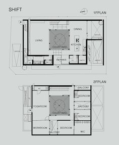 Traditional japanese house floor plan google search shift5 architecture modern japanese courtyard home malvernweather Image collections