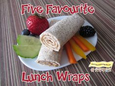 Five Favourite Lunch Wraps -Kid Approved HowToRunAHomeDaycare.com #fast healthy lunches #kid approved lunch