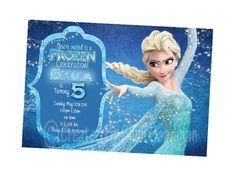 Frozen Birthday Party Invitations  printable  DIY  by CupcakeTops, $5.00
