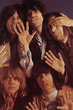 The Rolling Stones - English rock band formed in London in 1962. The first settled line-up consisted of Brian Jones on guitar and harmonica, Ian Stewart on piano, Mick Jagger on lead vocals Members: Mick Jagger, Keith Richards, Ronnie Wood, Brian Jones Lead singers: Keith Richards, Mick Jagger