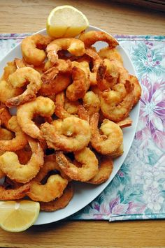 Our family's Jumbo Fried Shrimp are the best! We enjoy them for our Italian seafood feast on Christmas Eve, but they're perfect for a Lenten fish fry too! Pan Fried Shrimp, Fried Shrimp Recipes, Breaded Shrimp, Best Seafood Recipes, Healthiest Seafood, Best Italian Recipes, Shrimp Dishes, Fried Fish, Fish Recipes