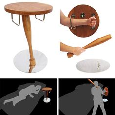 Safe Bedside Table - use the top as a shield for self-defense and the leg as a club. Only thing is you have to unscrew it, hefty magnetizing between the shield and club would be better in my opinion.