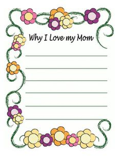 A Sweet Mother's Day Note  -  Pinned by @PediaStaff – Please Visit http://ht.ly/63sNt for all our pediatric therapy pins