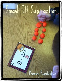 Hands-on math for L. Primary Possibilities: Math Madness Wednesdays: Subtraction Tips and Tricks Math For Kids, Fun Math, Math Activities, Math Resources, Math Help, Math Stations, Math Centers, Math Subtraction, Subtraction Activities