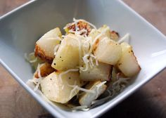 Roasted kohlrabi with garlic and Parmesan recipe. How to prepare and recipes for kohlrabi #veggie #healthy