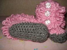 Cómo tejer botas crochet para bebé paso a paso en fotos y video | Crochet y dos agujas