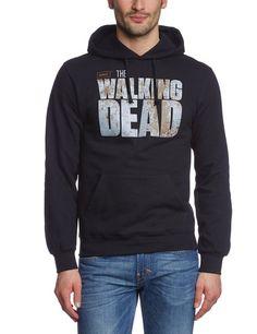 Coole-Fun-T-Shirt Sweatshirt The Walking Dead Survivor mit Kapuze Hoodie, Schwarz, L, FT265