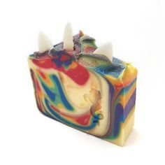 Unicorn rainbow soap with delicious fruity fragrance - Fantasy Soapworks