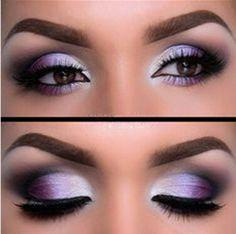 incredible lilac shadow Eye makeup