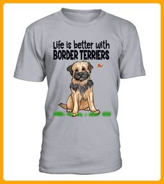 Life is better with Border Terriers - Neujahr shirts (*Partner-Link)