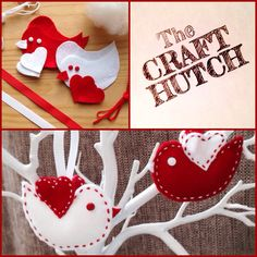 Sew Your Own Valentine Love Bird Kit by TheCraftHutch on Etsy Craft Kits, Craft Projects, Make Your Own, How To Make, Love Birds, Love Is All, Valentines, Christmas Ornaments, Sewing
