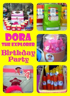 Food, Family, Fun.: Dora the Explorer Birthday Party (on a budget!)