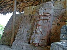 Kohunlich Temple of Masks Mayan Ruins, Southern Quintana Roo, Yucatán Peninsula, Mexico