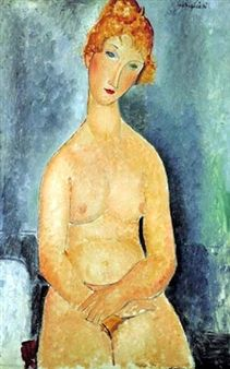 Seated Nude By Amedeo Modigliani ,1918