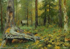 In Taiga - oil, canvas, Yuri Vasendin