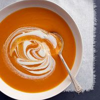 Butternut Squash and Carrot Soup by Betty Crocker: Good & easy, I use shallot instead of onion. Sometimes I skip the half & half and top with crumbled goat cheese instead. Kim Bongiorno @LetMeStartBySaying