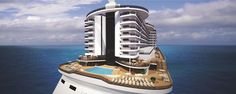 The MSC Seaside, first of their Seaside class of ships, will be sailing from PortMiami year round to the Caribbean with a debut November 2017. #cruise #grouptravel #leisuretravel