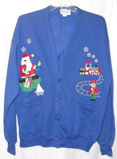 Blue OS Holiday FLEECE Jacket Christmas Santa Train Soldier One Size #BellePointe #FleeceJacket