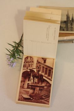 Antique Postcard book of the Pierrefonds by MariusetJeannette