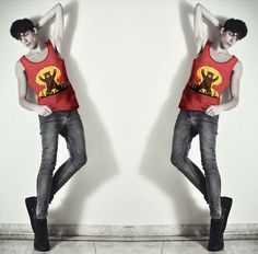 TANK TOP Novelty Vests  http://www.aliexpress.com/store/802966/211458764-538477400/Men-s-Printed-Fashion-TANK-TOP-Novelty-Vests-Red-Slim-Fit-Style-Free-Shipping-Size-M.html  $12.7