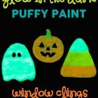 Glow in the Dark Halloween Window Clings