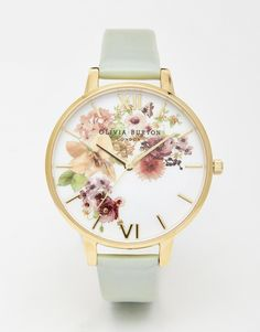 Olivia Burton Big Dial Flower Show Watercolour Watch