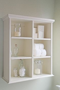 Loving Ana White's new book w DIY furniture like this Bathroom_shelf  seen at Shanty to Chic