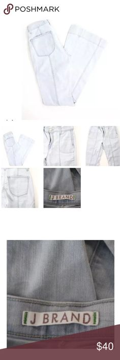 J BRAND 4 POCKET ICELAND FLARE LEG JEANS SZ 27 Belt Loops: Yes Leg Type: Flare Closure: Zipper Print: Solid Embellishments: Mid Rise Pockets: 3 Front, 2 Back Style #: 119C036 Cut #: 7336 Size: 27 Color: White Fabric: 94% Cotton, 5% Polyester, 1% Spandex PRE-OWNED: Very Good Condition Light wear on fabric J Brand Jeans