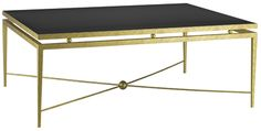Berkeley Coffee Table -  24ct gold gilded finish with a Nero Assoluto granite top. 1200mm x 900mm x 450mm h