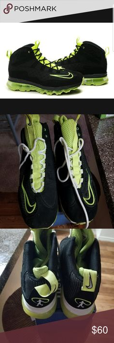 nike jr fall back ken griffey max black and neon green Nike Shoes Sneakers