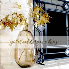 Easy DIY Fall Decor: Gilded Branches