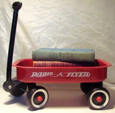 Vintage Mini Radio Flyer Red Wagon by AntiqueAlchemists on Etsy, $20.00