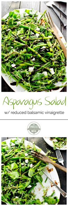 This simple asparagus salad makes an easy and delicious side dish that is naturally paleo and gluten free. Healthy Salad Recipes, Paleo Recipes, Whole Food Recipes, Cooking Recipes, Healthy Eats, Asparagus Salad, Asparagus Recipe, Salad Bar, Restaurant