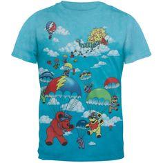 Grateful Dead - Parachuting Dancing Bears Youth Tie Dye T-Shirt