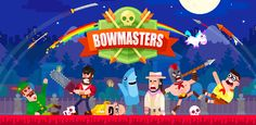 A hotsy-totsy aim and shoot game, Bowmasters has lots in store for you:• 41 INSANE CHARACTERS from all dimensions absolutely for free! • 41 DIFFERENT WEAPONS for total mayhem, awesome fatalities with rag-doll physics! • EPIC DUELS WITH YOUR FRIENDS. Grab your mates and show them what you're worth! • MULTIPLE GAME MODES. Shoоt birds or fruits down, defeat the enemies in duels and get money for that! • ENDLESS REWARDS FOR YOUR SKILLS! Don't miss out on the fun! Be the first to grab it!
