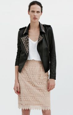Zara June Lookbook 2012 Leather Jacket