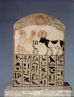 Stela to the Apis bull (painted limestone)