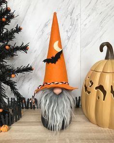 New Halloween Gnomes are in the shop now 😊 Etsy.com/shop/flowervalleygnomes Halloween Boo, Halloween Projects, Holidays Halloween, Happy Halloween, Halloween Decorations, Cute Crafts, Fall Crafts, Holiday Crafts, Diy And Crafts