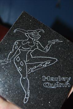 Harley Quinn on Black Granite