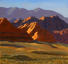 """Last Light at Red Cliffs,"" Frank Ray Huff, Jr., oil on canvas  (Utah)"