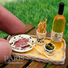 Provence Apéritif Miniature in 12th scale -- I don't even know why this is a thing but it is amazing...