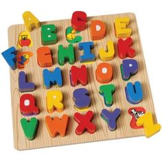 Wooden Chunky ABC Block Puzzle for all age kids at CPtoys.com