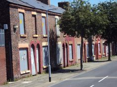 Traditional terrace houses in Liverpool by Marie Constance