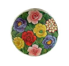 50's Shabby Chic Floral Tin Beautiful by PopcornVintageByTann, $18.00